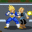 Vegeta vs Android 18 in Earth