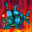 Robot Shark in a Sea